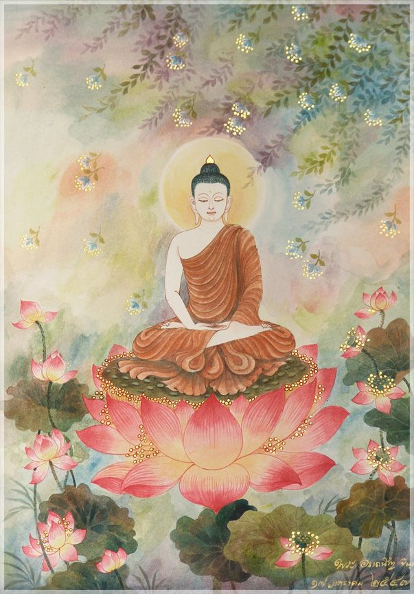 buddha preparing for Wesak